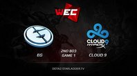 EG vs Cloud9, WEC LAN Finals, Grand Final [2nd BO3] Game 1