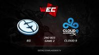 EG vs Cloud9, WEC LAN Finals, Grand Final [2nd BO3] Game 2