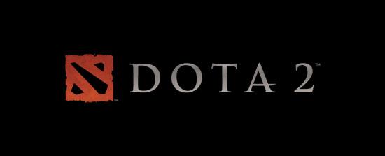 Лого Dota 2 на черном фоне (Автор dota2valve.ru )