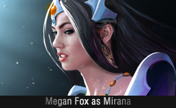 Megan Fox as Mirana Dota 2