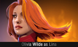Olivia Wilde as Lina Dota 2