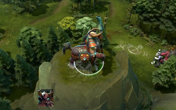 скриншот героя вид с боку Centaur Warrunner