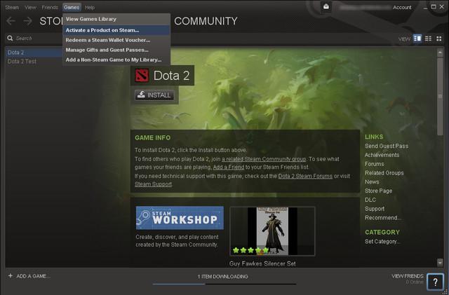 как активировать игру в Steam img-1